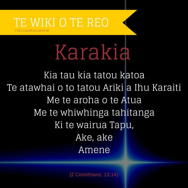 """Karakia - """"May the grace of the Lord Jesus Christ, and the love of God, and the fellowship of the Holy Spirit be with you all."""" 2 Corinthians 13:14 NIV"""