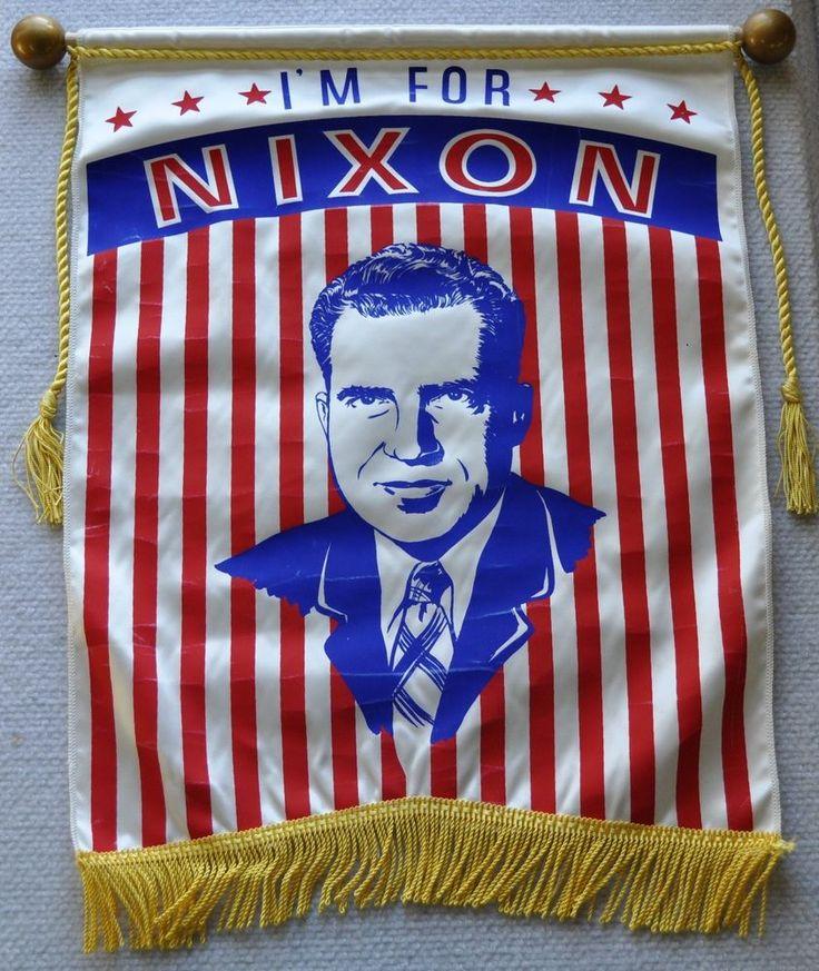 Richard Nixon Costume: Vintage 1960 I'm For Nixon Political Campaign American
