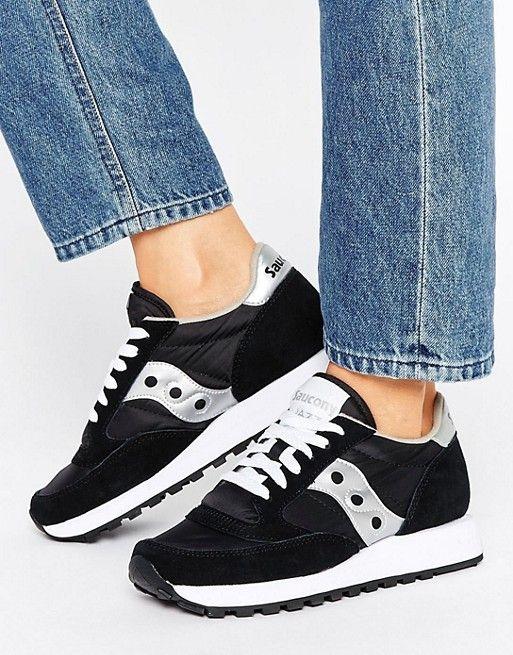 Saucony Jazz Original Sneakers In Black & White