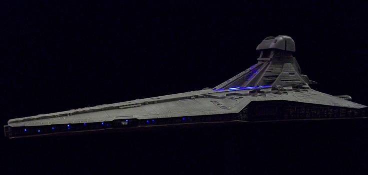 Hand-Crafted Large 3D Model Spaceship with internal Electronics