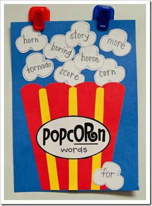 r-controlled vowels popcorn (-or)