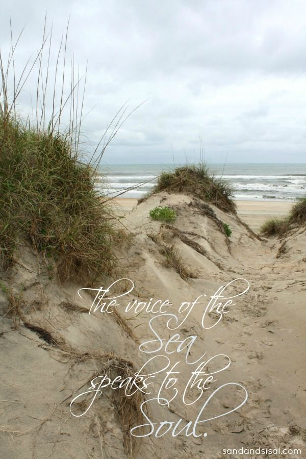 Beach Quotes- The Voice of the Sea Speaks to the Soul.