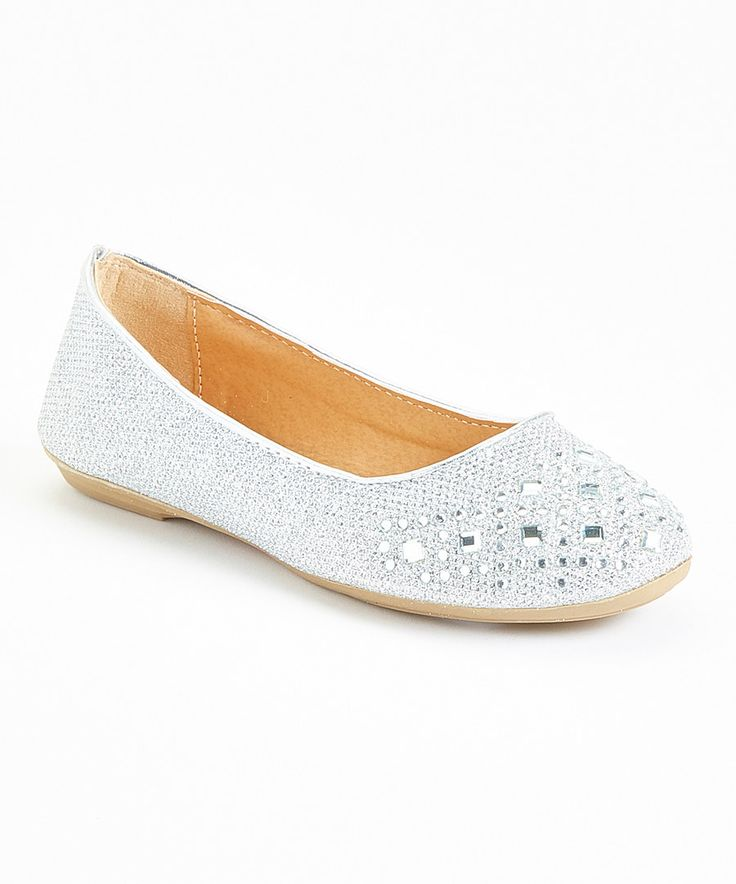 Look at this Angels New York Silver Embellished Flat on #zulily today!