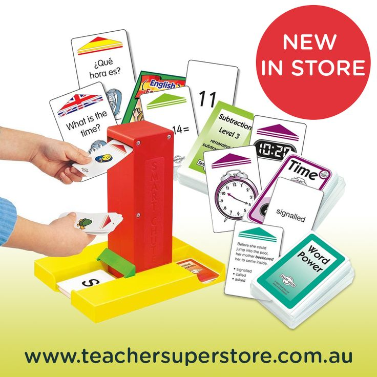 NEW IN STORE: Smart Chute. This high quality card flipper can be used with over 70 sets of cards. Browse the full Chute & Cards range at Teacher Superstore.