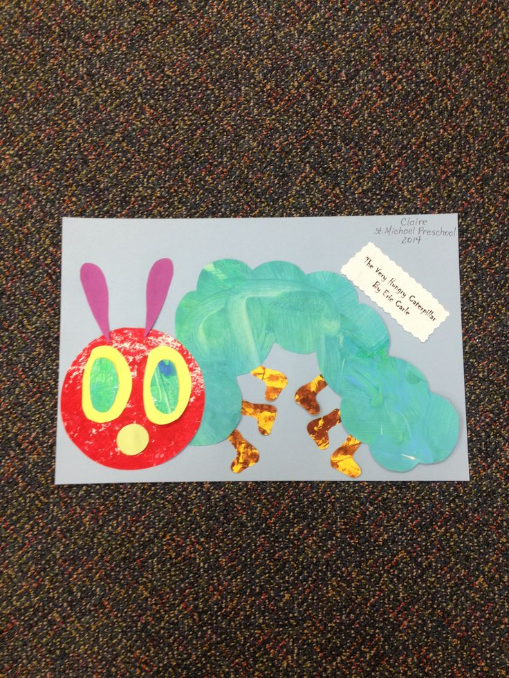 Pre-K The Very Hungry Caterpillar project! Very Hungry Caterpillar, Caterpillar Projects