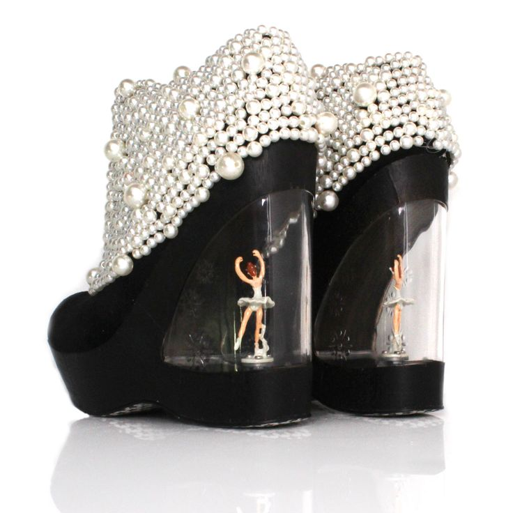 irregular choice balletomane shoe white pearl black