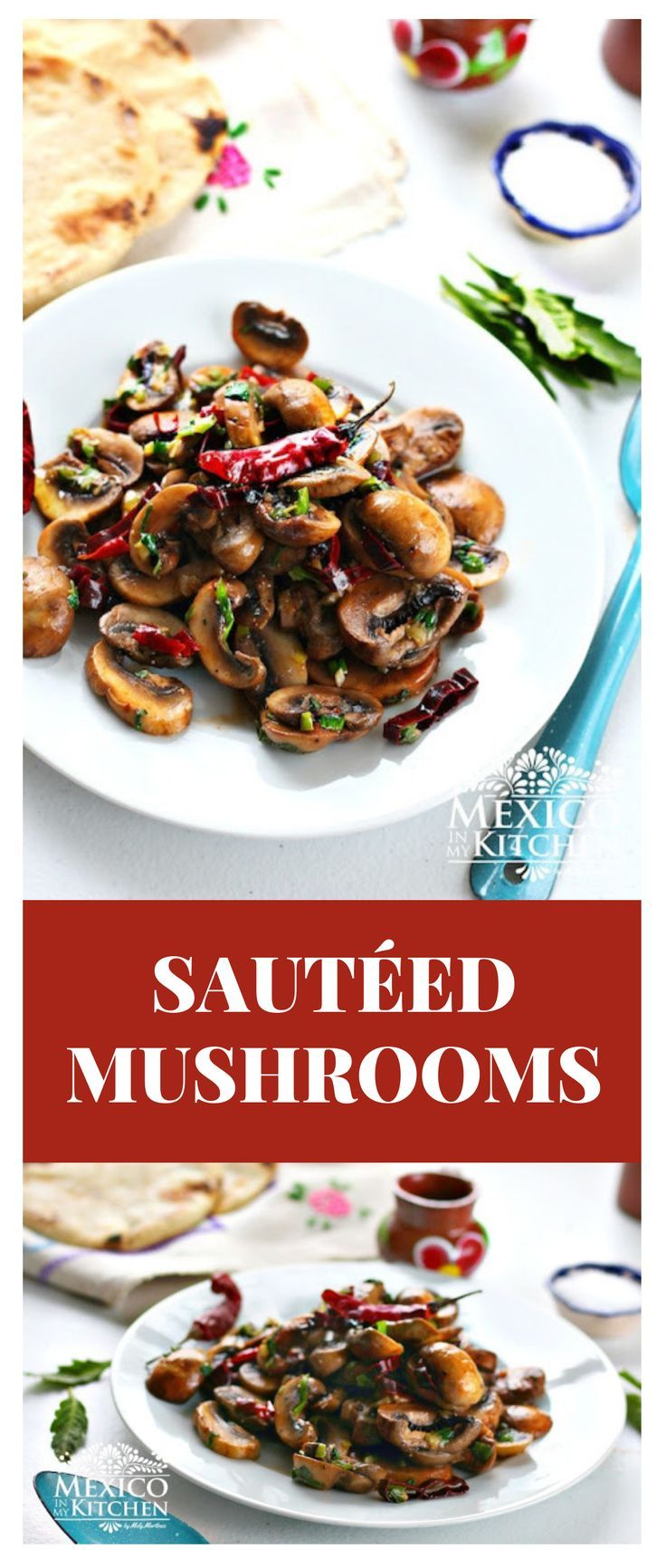 Mushrooms sauteed   – Favourite Food Bloggers – main meals, side dishes & snacks