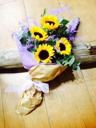 #yellow & #purple #flowers! #beautiful colours