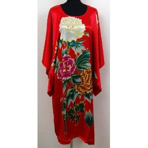Shanghai Tone® Kimono Bath Robe Sleepwear Nightgown Red One Size,$20.50