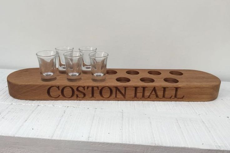 Shot Glass Peg Tray