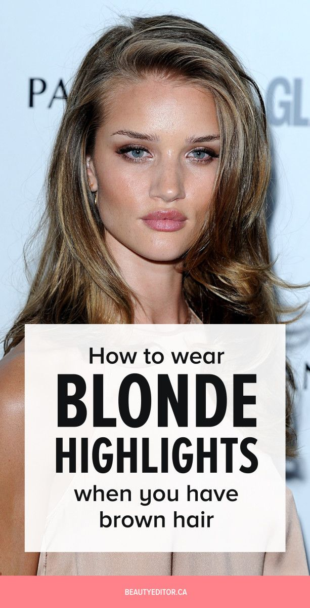 Ask A Hairstylist How To Wear Blonde Highlights When You Have Brown