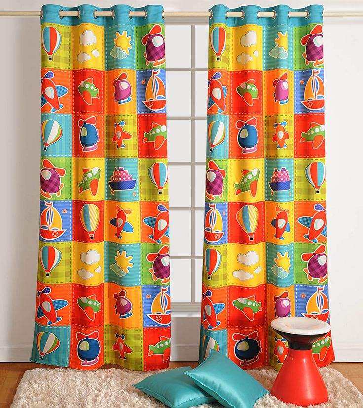 #Multicoloured Printed #Polyester #Curtain at #Indianroots