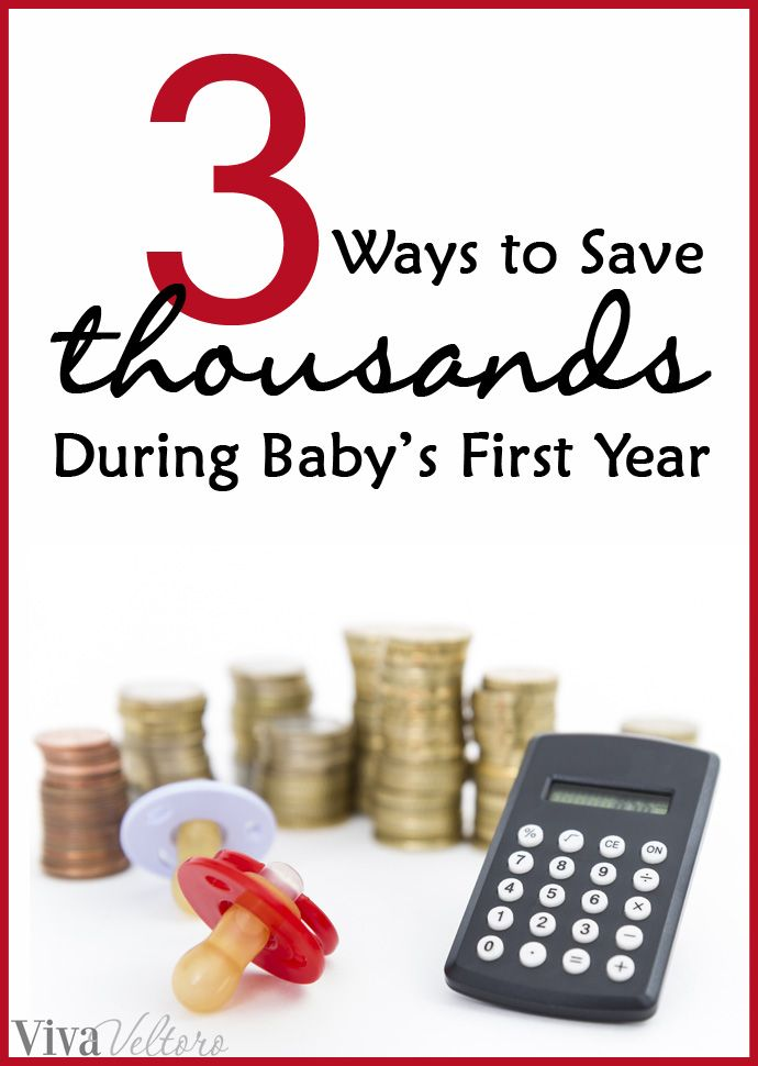 Expecting a baby? You don't have to overspend! Here's 3 ways to save thousands during baby's first year. #baby #spon #savemoney