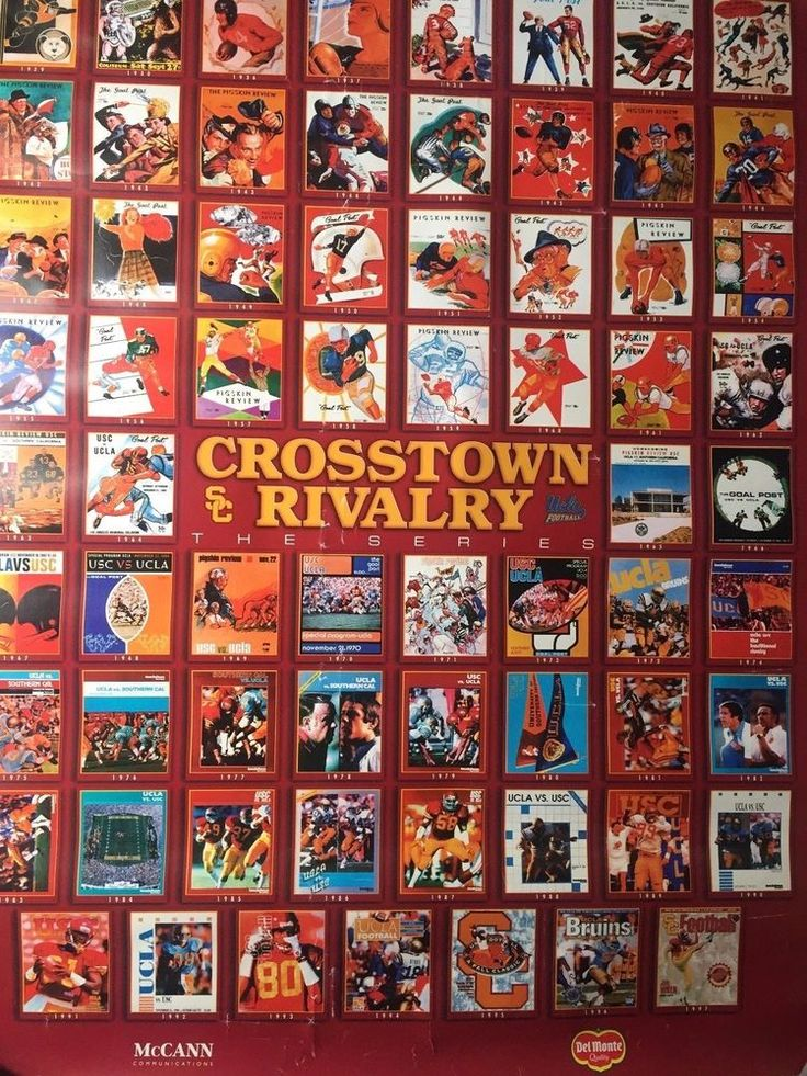 Usc vs ucla football rivalry illustrated print poster 22 x 28 trojans