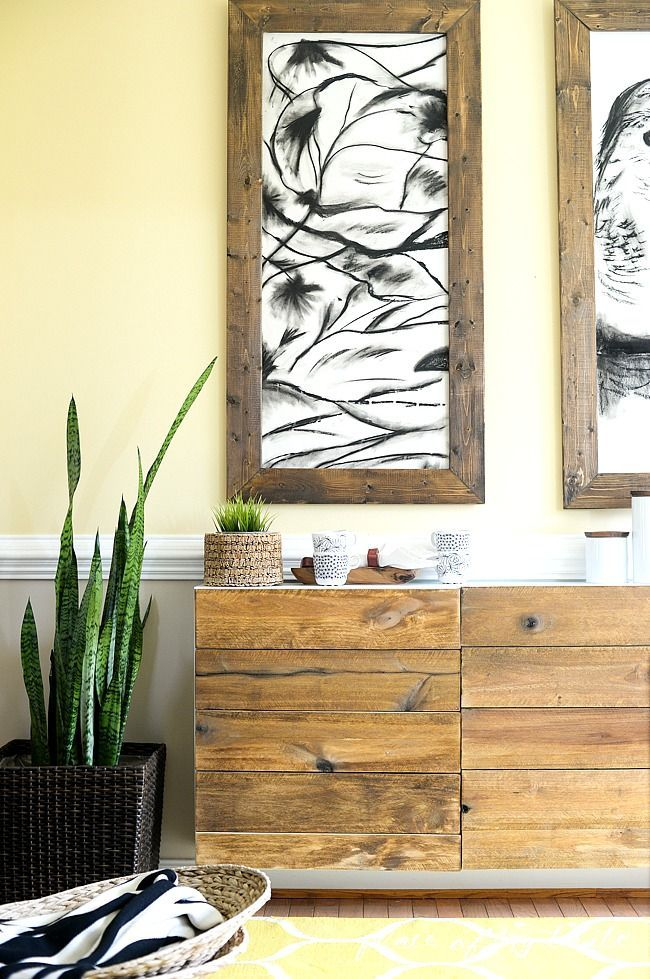 diy reclaimed wood buffet