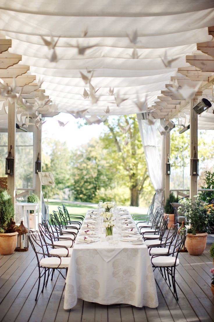 Wedding reception at the outdoor Patio