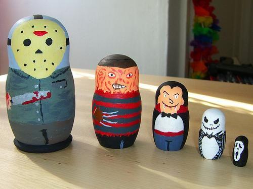 horror: Horror Dolls, Horror Movies, Dolls Art, Nests Dolls, Matryoshkababushka Dolls, Matryoshka Dolls, Horror Film, Horror Matryoshka, Jack Skellington