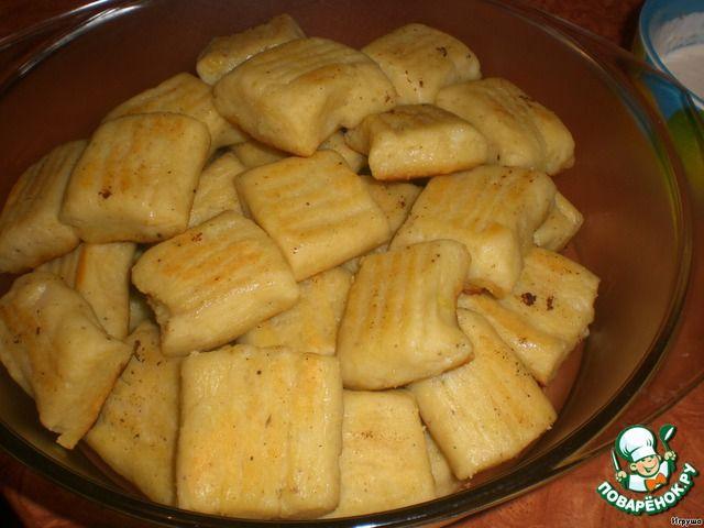 Ньоки, запечeнные под сыром ингредиенты