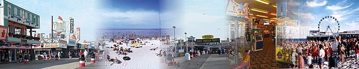 Seaside Heights NJ, Jersey Shore beach, boardwalk and visitors guide and local tourism information