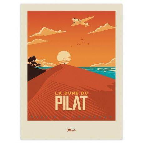 """Affiche Bassin d'Arcachon """"Dune du Pilat"""""""