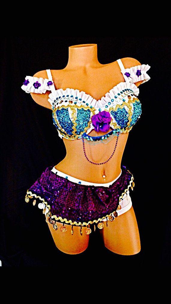 Esmeralda rave costume. 4 pièces de costumes que tours dirige à tout événement, de concert ou de compétition