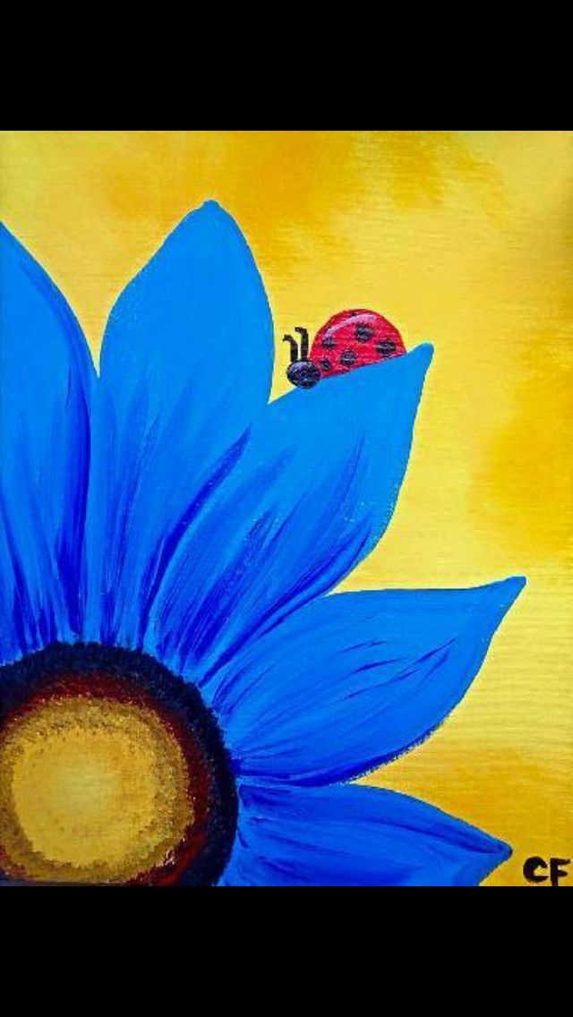 1203 best images about sip paint on pinterest love for Simple flower painting ideas