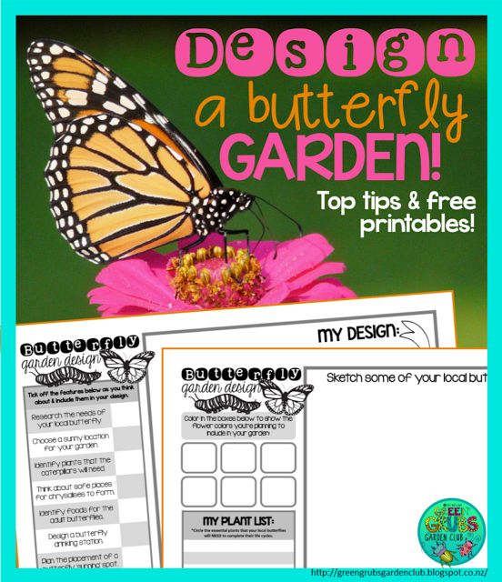 ~FREE Printables~ Designing a Butterfly Garden {Green Grubs Garden Club Blog}