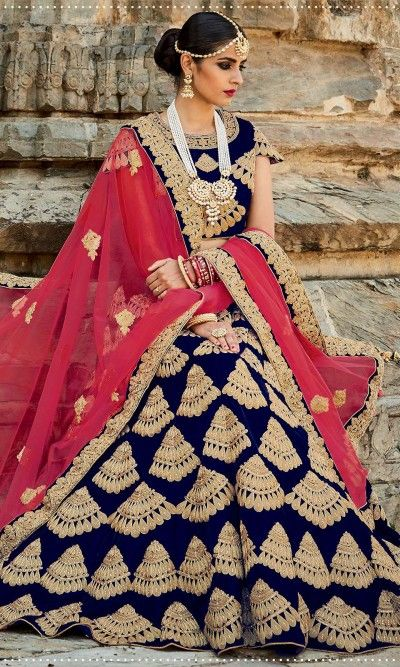 Blue Designer Bridal Lehenga- Arabian Dresses, dress, clothe, women's fashion, outfit inspiration, pretty clothes, shoes, bags and accessories