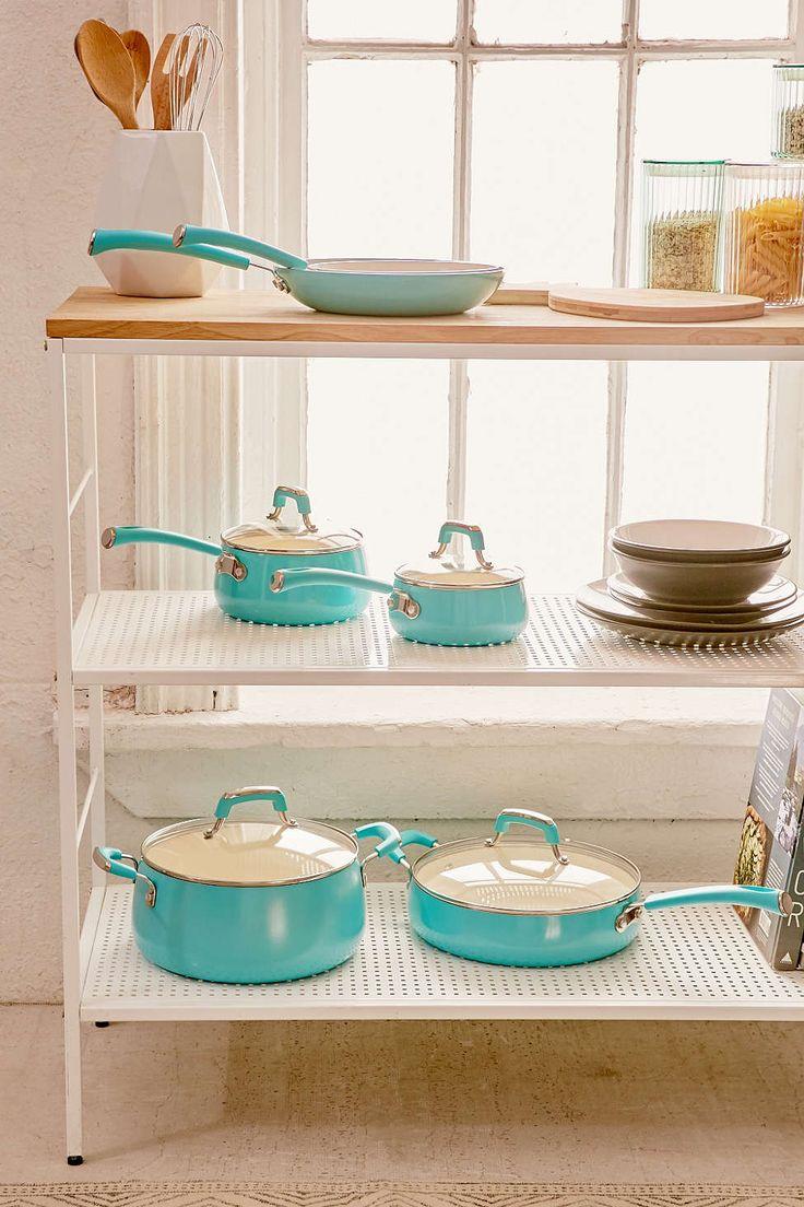 10 piece pop teal cookware set cookware set cookware - Teal kitchen appliances ...