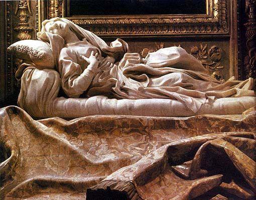 Gianlorenzo Bernini, Nagrobek Ludwiki Albertoni, 1671-74, marmur i jaspis, dł. 188 cm, San Francesco a Ripa, Rzym