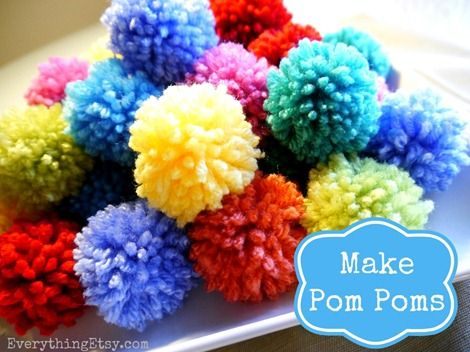 7 best yarn crafts images on pinterest for Crafts to make with pom poms