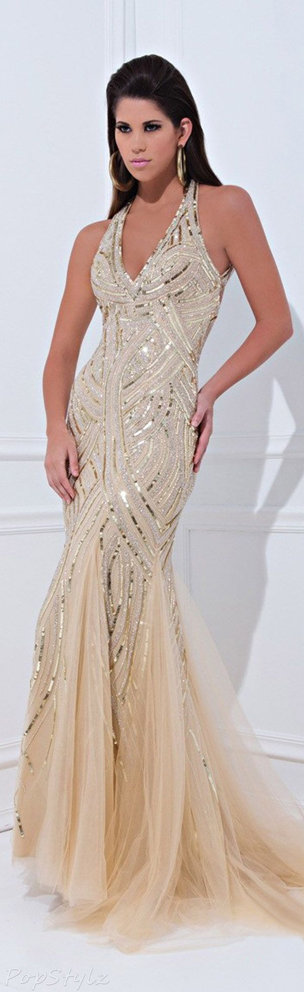 Tony Bowls Shimmering Gown : Stunning!