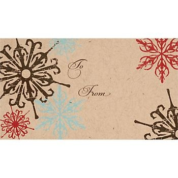 Modern Snowflakes Gift Tags