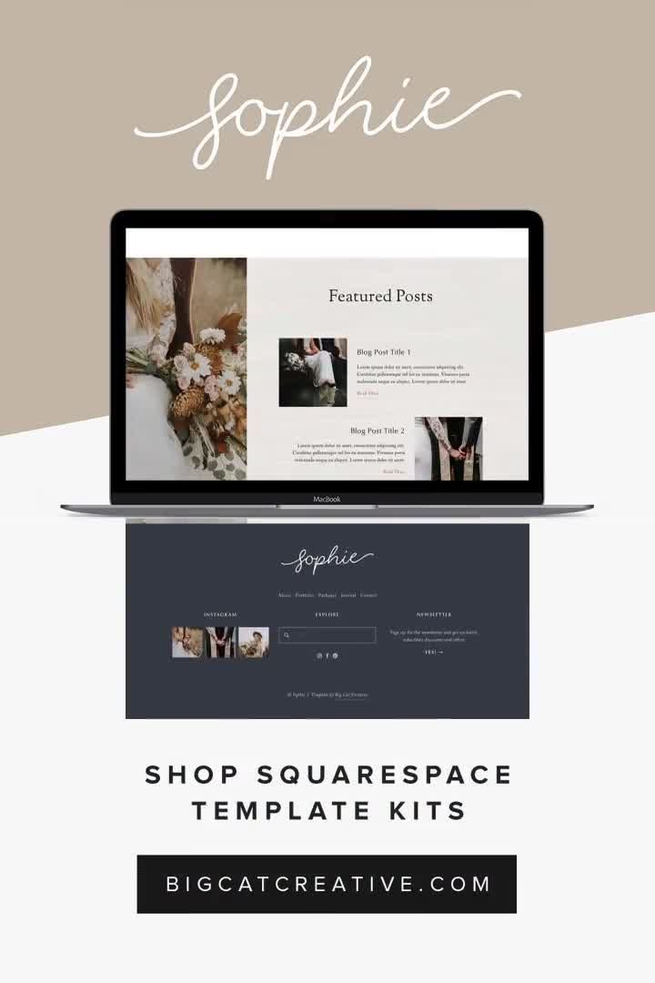 The Sophie Squarespace Template Kit Is A Rustic And Romantic