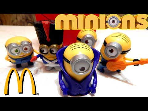 Minions McDonalds Happy Meal unboxing, Despicable Me Minions   Toys TV - YouTube