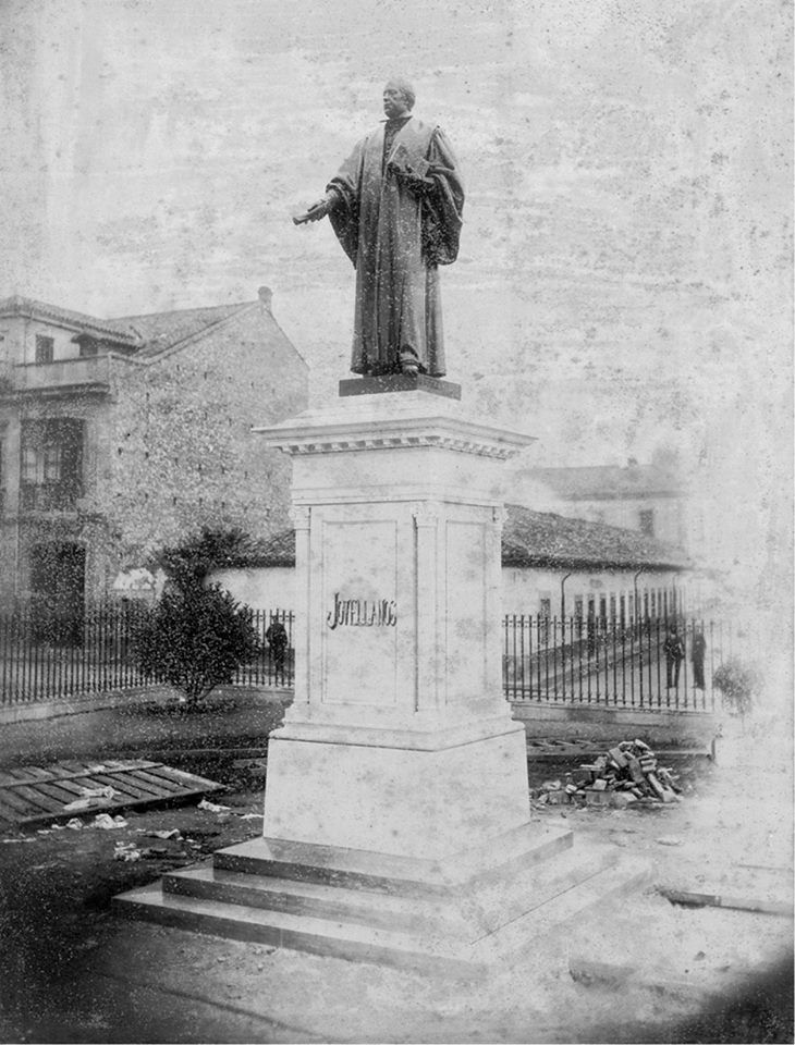 1891 estatua de jovellanos pocos dias antes de su for Jardines de la reina gijon