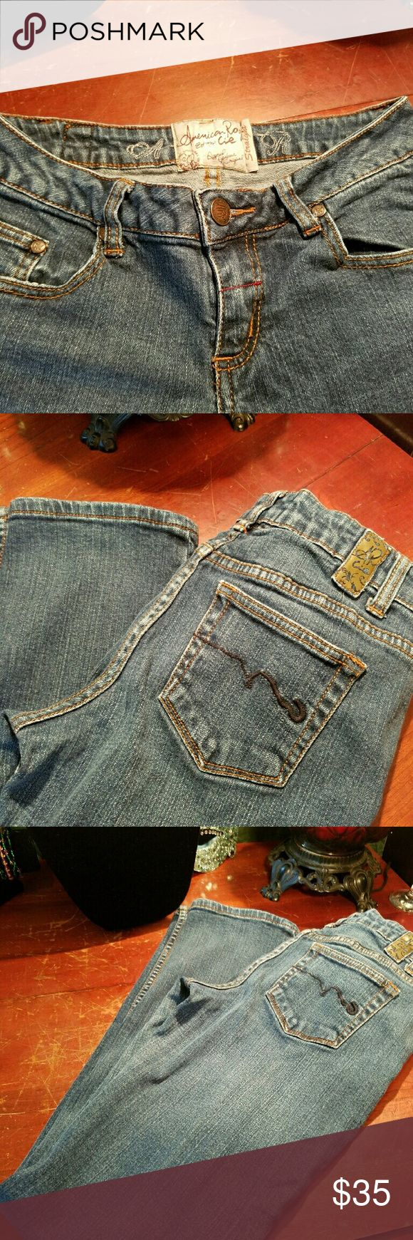 American Rag Size 3 Great condition, barley worn. American Rag Jeans size 3 R. I want to say they are straight leg. But not sure. American Rag  Jeans