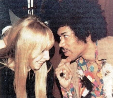 Jimi Hendrix and Monika Dannemann