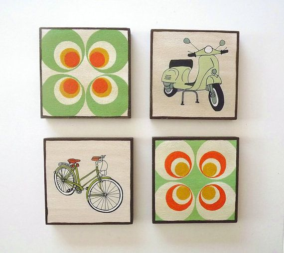Original Acrylic Paintings. Different Sizes  5x5 8x8 by Lunartics, €82.00