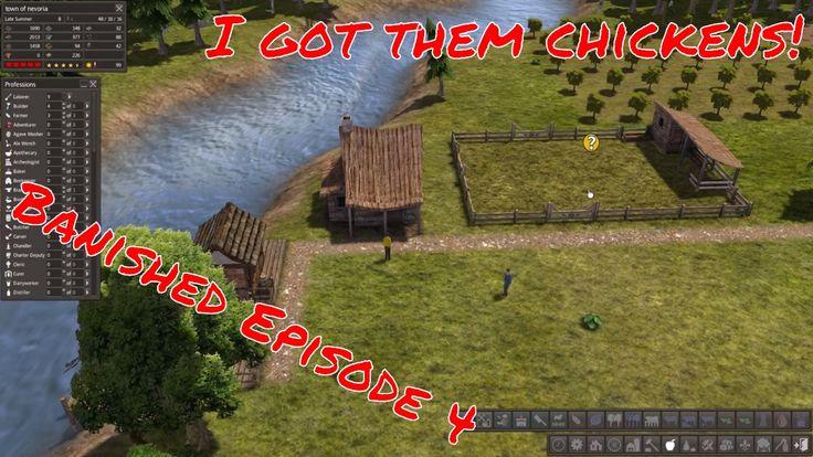Lets Play | Banished | I GOT CHICKENS! :D | Episode 4