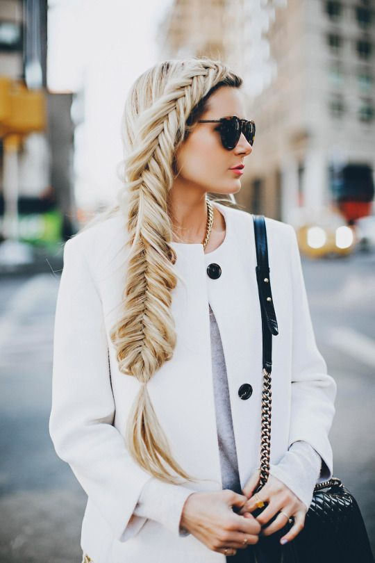 blonde + fishtail