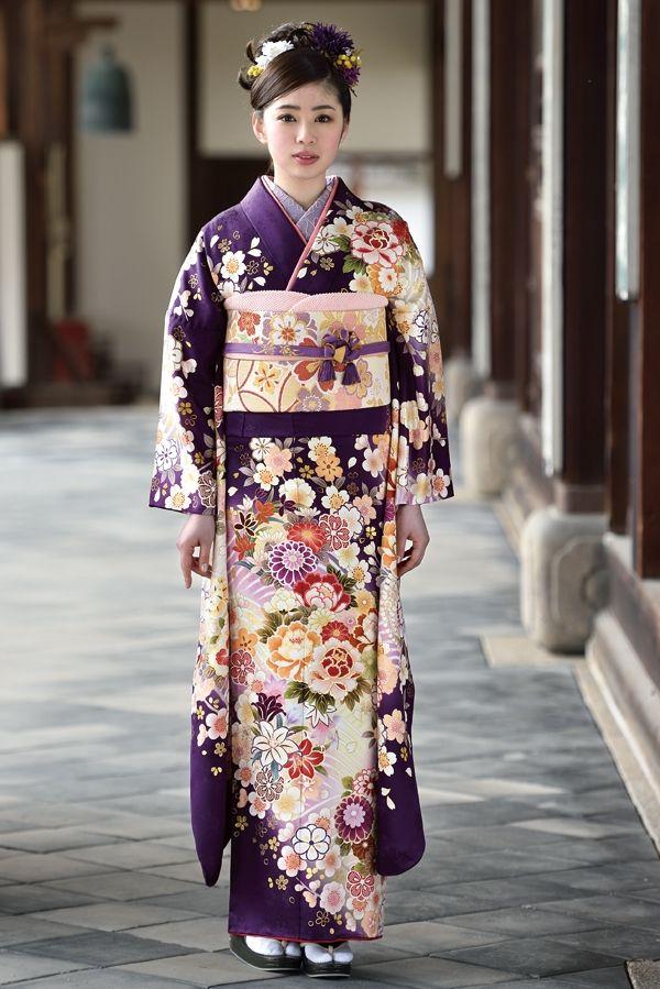 古典柄振袖 紫色/パープル色|古典|成人式は上品で優雅な古典振袖