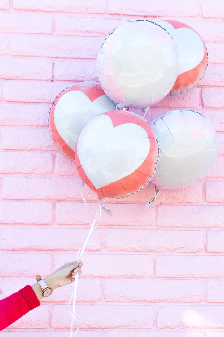 DIY Silhouette Heart Balloons for Valentine's Day