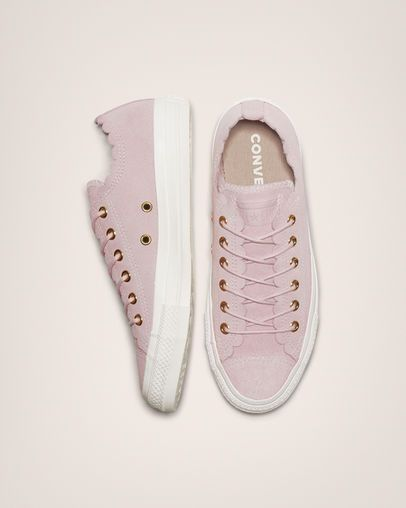 67d70c0c792 Chuck Taylor All Star Frilly Thrills Low Top Pink Foam/Gold/Egret ...