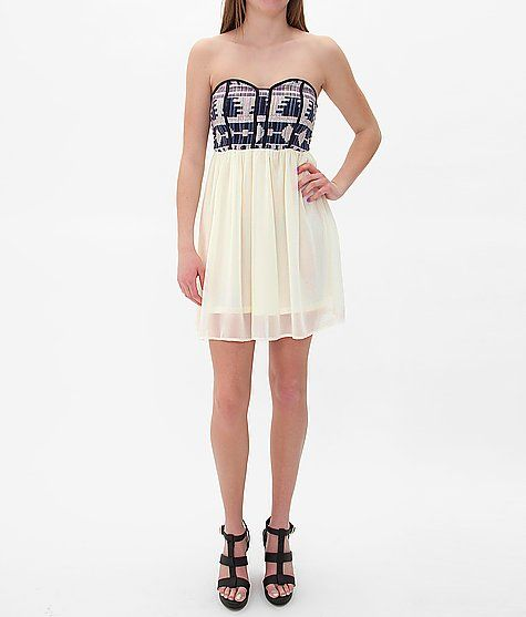 Daytrip Embroidered Tube Top Dress- Buckle