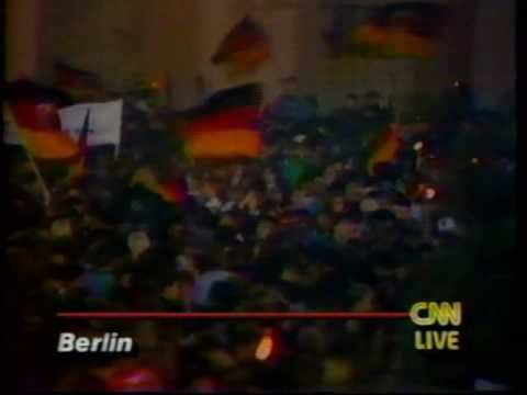 Live American broadcasts on October 3, 1990 as Germany officially celebrates Reunification.