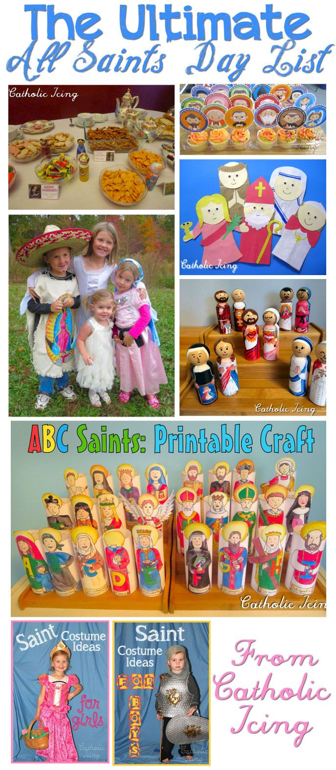 It's that time of year again, time to plan your All Saints' Day party!I rounded up all of my Saint crafts, food ideas, costume tutorials, printables, and more in one place- this page! …