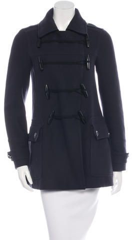 Burberry Brit Wool Toggle Coat