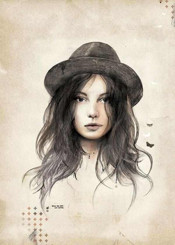 Coole Bilder zum Zeichnen - tolle Gesichtsbilder als Herausforderung (Cool Art)