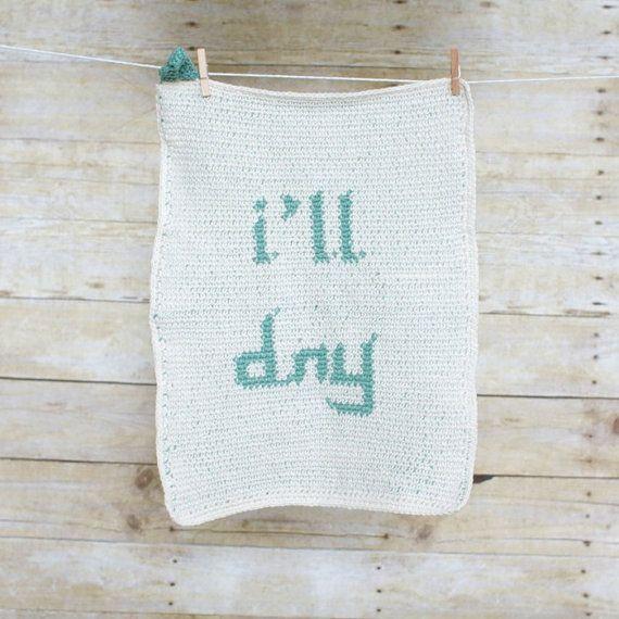 U Wash & I'll Dry Dish Towel and Cloth set. by purlandcompany, $48.00 -